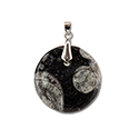 Fossil Necklace - Orthoceras Round