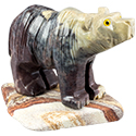 Large Carved Stone Bear
