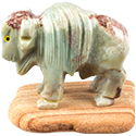 Large Carved Stone Buffalo