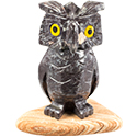 Large Carved Stone Owl