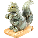 Large Carved Stone Squirrel
