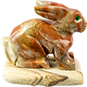 Large Carved Stone Rabbit