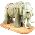 Large Carved Stone Woolly Mammoth
