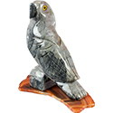 Large Carved Stone Parrot