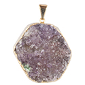 Amethyst Cluster Necklace - Gold