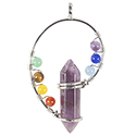 Point with Chakra Swirl - Silver