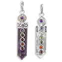 Capped Chakra w/ Sphere Necklace