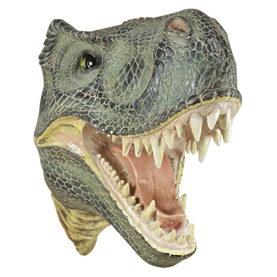 Silver Streak Dinosaur Head Sculpture