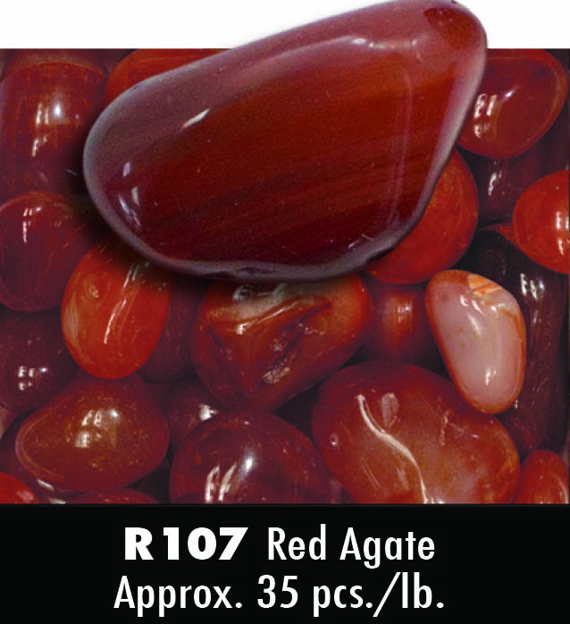 Red Agate Tumbled Stone Banded