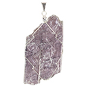 Lepidolite Necklace - Silver